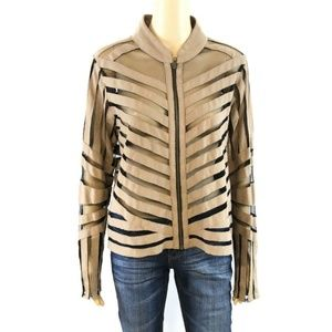 Multiples Women's Jacket Blazer Brown Sheer